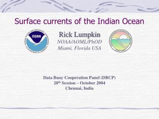 Surface currents of the Indian Ocean