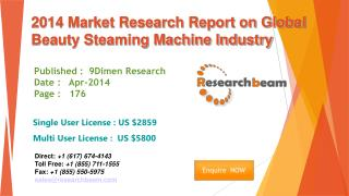 Global Beauty Steaming Machine Market Size, Share 2014