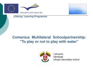 Comenius  Multilateral  Schoolpartnership: