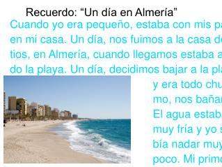 """Recuerdo: """"Un día en Almería"""""""