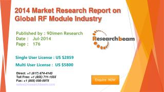 Global RF Module Market Size, Share, Study, Forecast 2014