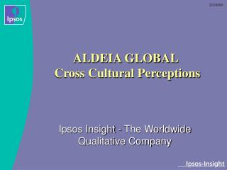 ALDEIA GLOBAL  Cross Cultural Perceptions