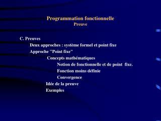 Programmation fonctionnelle Preuve