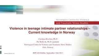 Violence in teenage intimate partner relationships –  Current knowledge in Norway