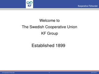 Welcome to The Swedish Cooperative Union KF Group