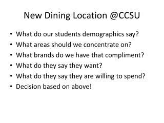 New Dining Location @CCSU