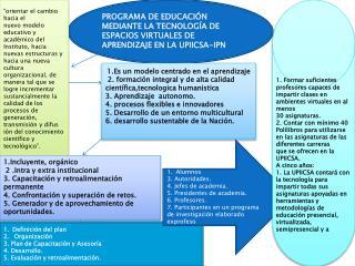 PROGRAMA DE EDUCACIÓN MEDIANTE LA TECNOLOGÍA DE