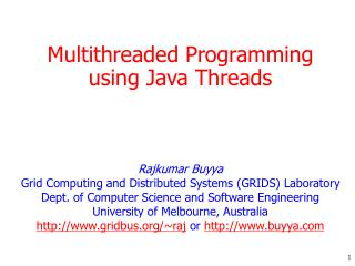 Multithreaded Programming using Java Threads