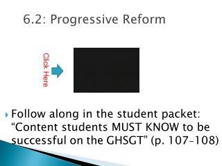 6.2: Progressive Reform