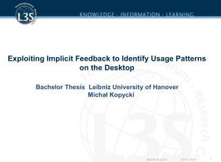 Exploiting Implicit Feedback to Identify Usage Patterns on the Desktop