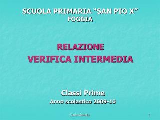 SCUOLA PRIMARIA �SAN PIO X� FOGGIA