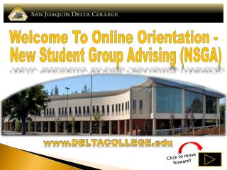 Welcome To Online Orientation -