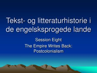 Tekst- og litteraturhistorie i de engelsksprogede lande