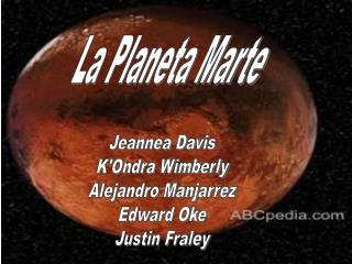 La Planeta Marte