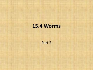 15.4 Worms