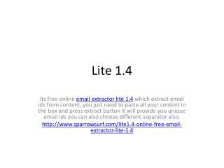 Lite 1.4