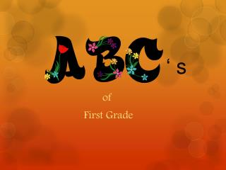 of         First Grade