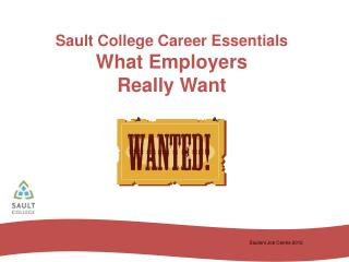 Sault College Career Essentials What Employers  Really Want