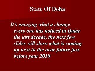 State Of Doha