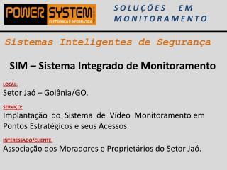 Sistemas Inteligentes de Segurança