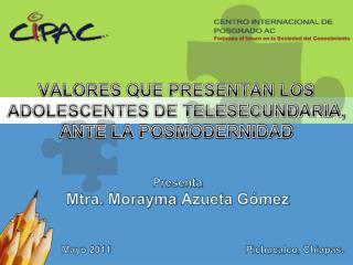 Presenta Mtra .  Morayma Azueta Gómez