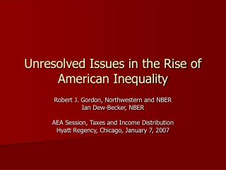 Unresolved Issues in the Rise of American Inequality