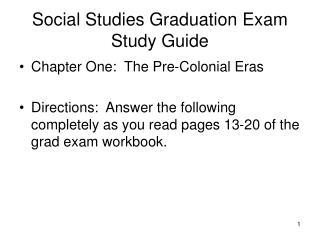 Social Studies Graduation Exam Study Guide