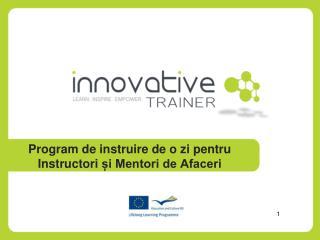 Program de  instruire  de o  zi pentru Instructori și Mentori de Afaceri