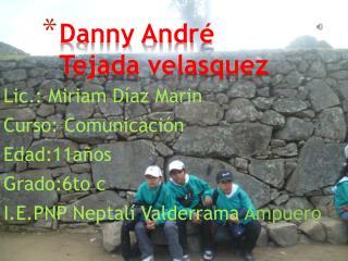 Danny André  Tejada velasquez