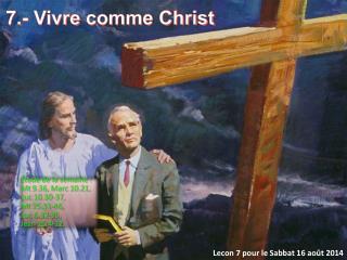 Lecon  7  pour  le Sabbat 16  ao�t  2014