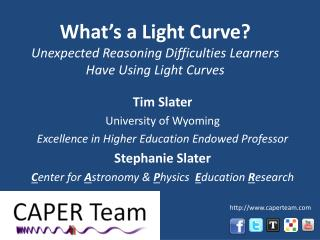 What's a Light Curve? Unexpected Reasoning Difficulties  Learners Have Using Light Curves