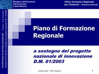 Piano di Formazione Regionale