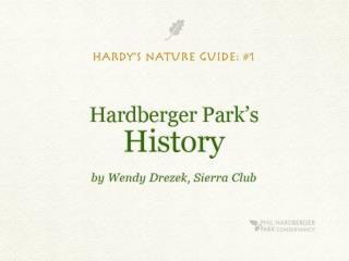 Hardy's Nature Guide for Young Naturalists