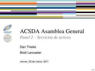 ACSDA Asamblea General
