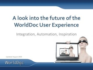 A look into the future of the WorldDoc User Experience