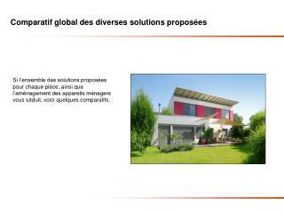 Comparatif global des diverses solutions proposées