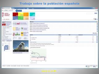 Trabajo sobre la población española