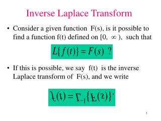 Consider a given function  Fs, is it possible to find a function ft defined on [0,   ,  such that         If this is pos