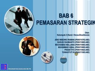 BAB 6 PEMASARAN STRATEGIK