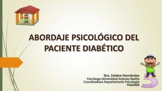 ABORDAJE PSICOLÓGICO DEL PACIENTE DIABÉTICO