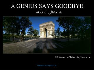 A GENIUS SAYS GOODBYE