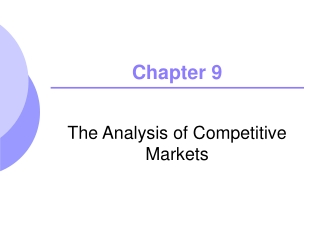 CHAPTER 9: MARKET EFFICIENCY