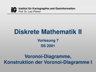 Diskrete Mathematik II