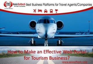 How to Make an Effective Web Portal for Tourism Business