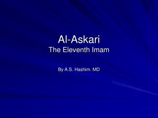 Al-Askari The Eleventh Imam