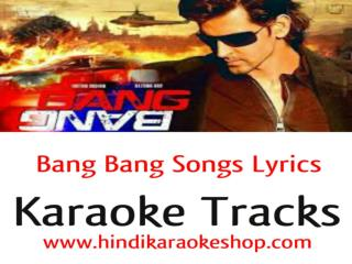 Bang Bang Songs Hindi Karaoke with Lyrics