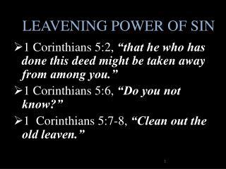 LEAVENING POWER OF SIN