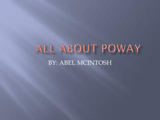 All About Poway