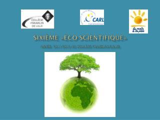 SIXIÈME «ÉCO-SCIENTIFIQUE» année 2011 -2012 au  collège  FRANKLIN (Lille)