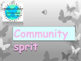 Community sprit